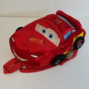 Disney Pixar Cars Kids Plush Backpack (No Zipper)